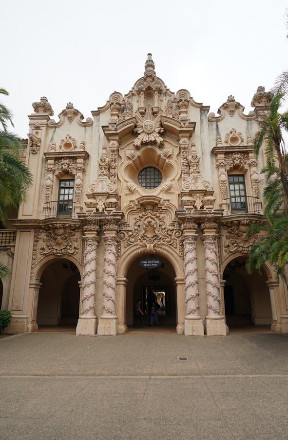 Casa del Prado in Balboa Park, San Diego, California. San Diego, California/US  A - June 24, 2019: The Casa del Prado comprises several reconstructed buildings stock photo