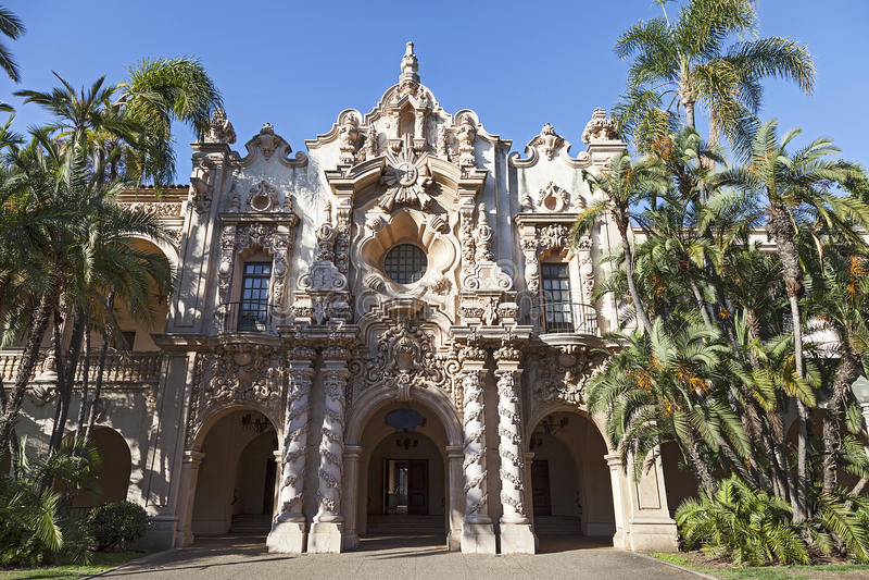 Casa del Prado at Balboa Park, San Diego royalty free stock photo