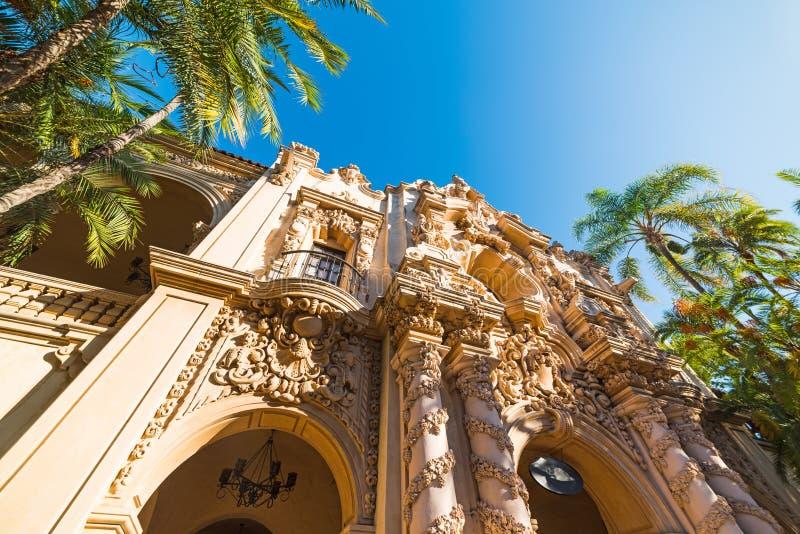 Casa del Prado en parc de Balboa images stock