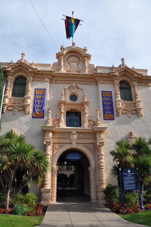 Casa del Prado på balboaen parkerar i San Diego royaltyfria foton