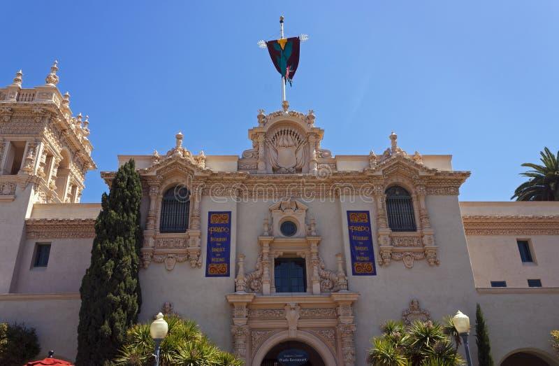 Casa del Prado på balboaen parkerar i San Diego arkivbilder