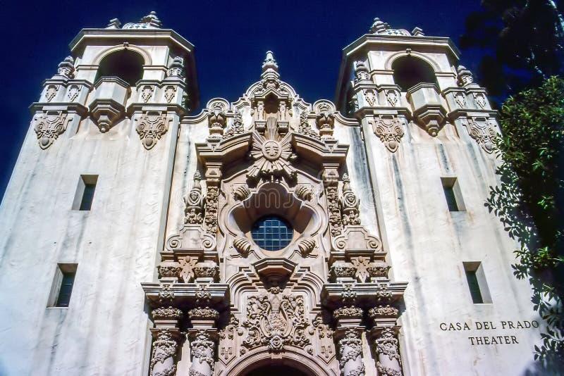 Casa del Prado Teatro, San Diego imagens de stock