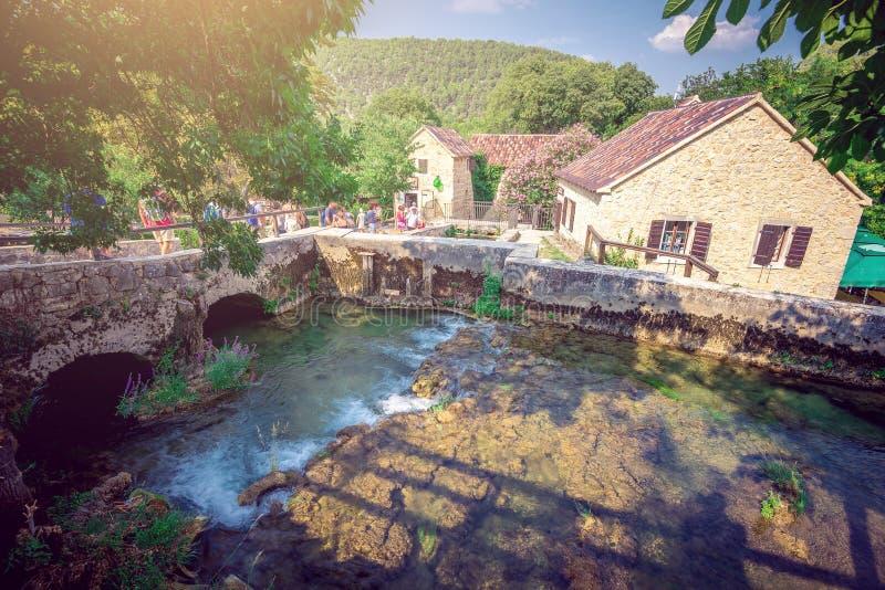 Casa del recuerdo en el parque nacional de Krka foto de archivo libre de regalías