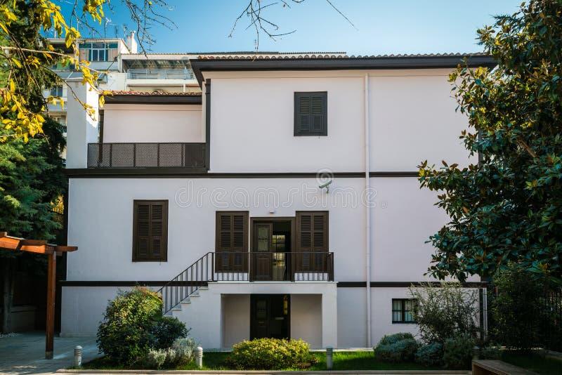 Casa del rk del ¼ de Ghazi Mustafa Kemal Atatà en Thessoloniki, Grecia imagen de archivo libre de regalías