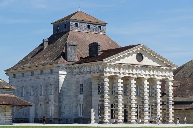 Casa del ` s di direttore al Saltworks reale dentro Arco-et-Senans fotografia stock libera da diritti
