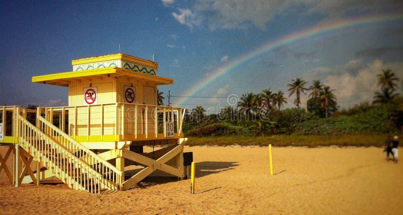 Casa del salvavidas de Miami Beach fotos de archivo libres de regalías