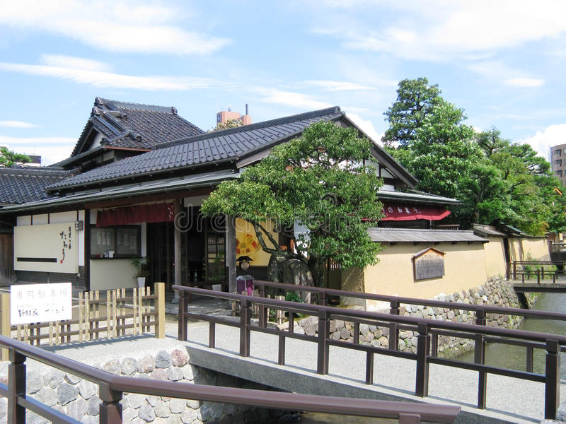 Casa del samurai di Kanazawa immagine stock