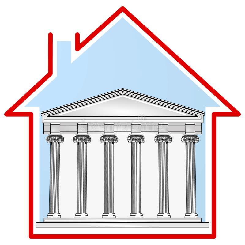 Casa del signore illustrazione di stock