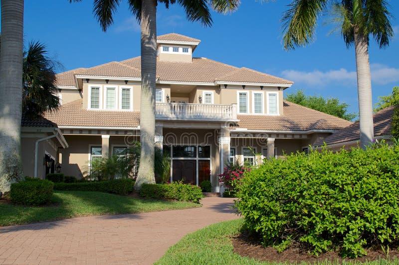 Casa del sud tipica di Florida immagine stock libera da diritti