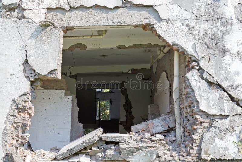 Casa del terremoto imagen de archivo