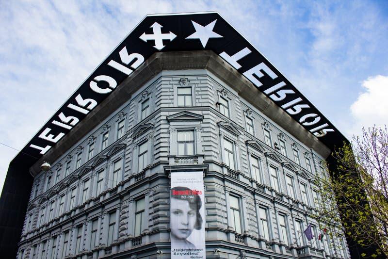 Casa del terror, Budapest, Hungría imagen de archivo libre de regalías