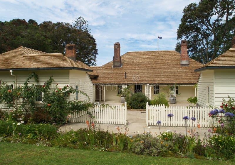Casa del tratado de Waitangi imágenes de archivo libres de regalías