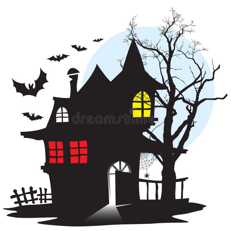 Casa del vampiro ilustración del vector
