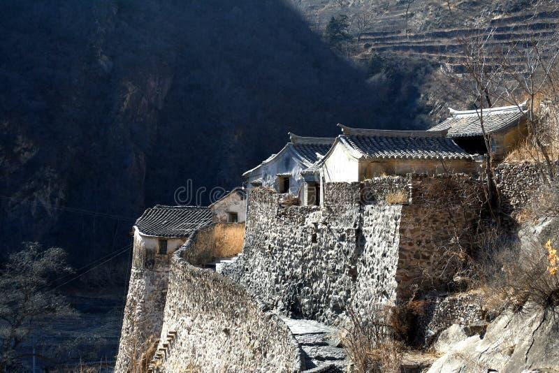 Casa del villaggio della Cina del nord fotografie stock
