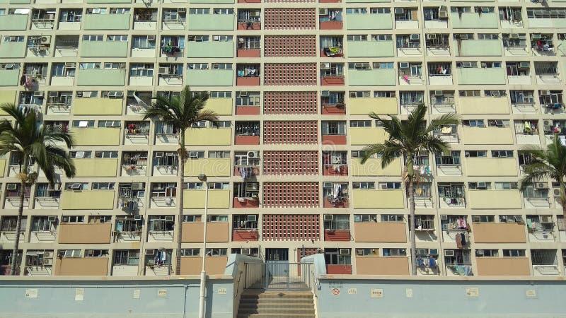 Casa dell'arcobaleno, Choi Hung Estate, Hong Kong fotografie stock