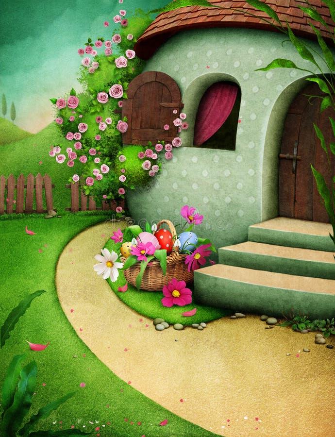 Casa dell'uovo di Pasqua royalty illustrazione gratis