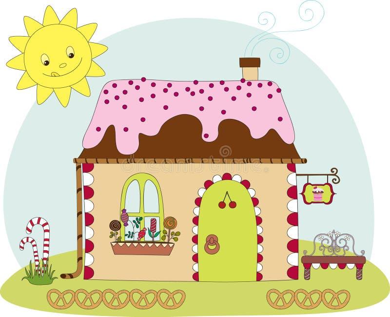 Casa della caramella royalty illustrazione gratis