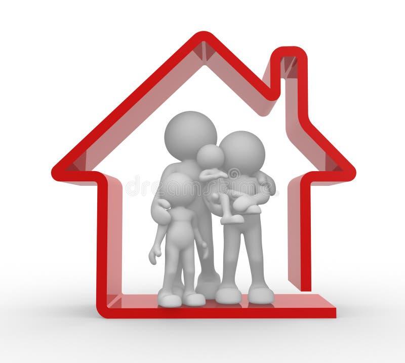 Casa della famiglia illustrazione vettoriale