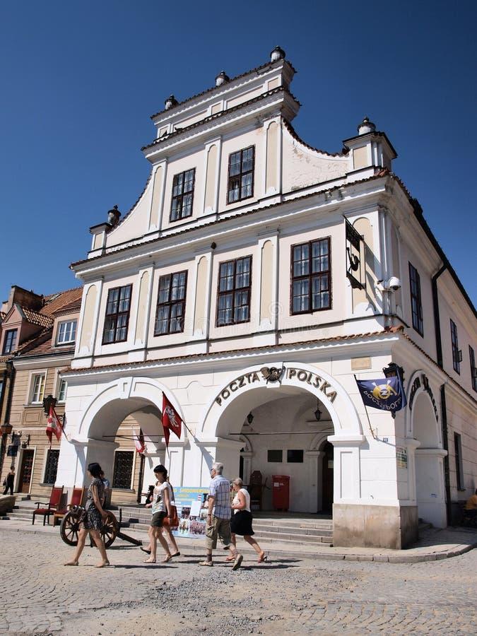 Casa della famiglia di Olesnicki, Sandomierz, Polonia immagine stock