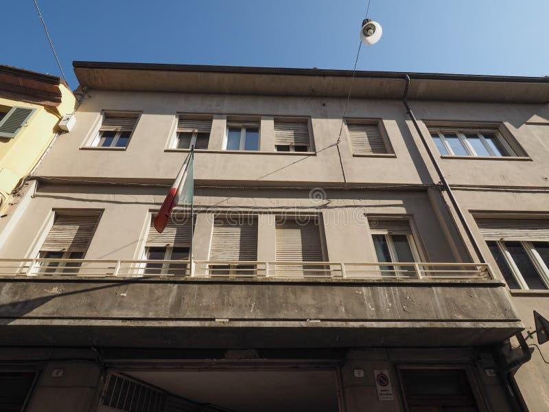Casa della Giovane in Alba. ALBA, ITALY - CIRCA FEBRUARY 2019: Casa della Giovane (meaning Home of the young woman stock image