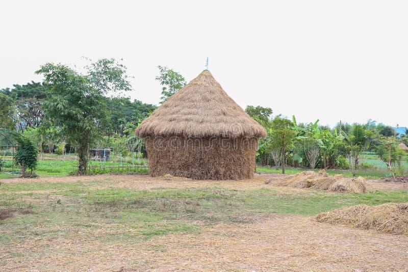 Casa della paglia, capanna del villaggio immagine stock libera da diritti