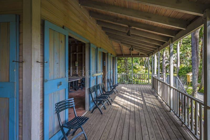 Casa della piantatrice in giardino botanico Città della strada, Tortola immagine stock