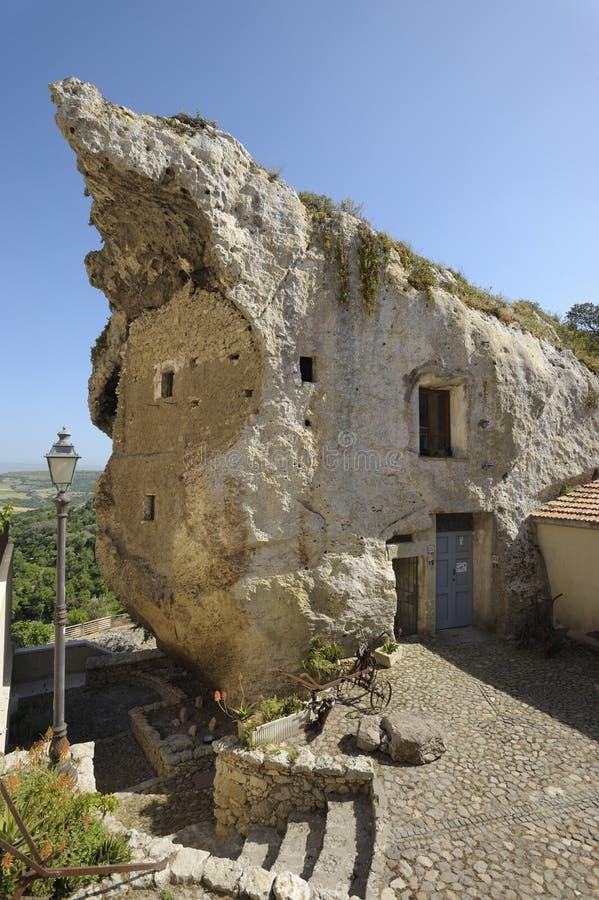 Casa della roccia fotografie stock libere da diritti