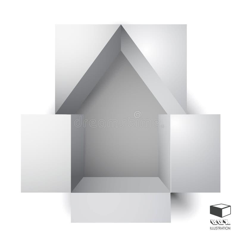 Casa della scatola di carta illustrazione vettoriale