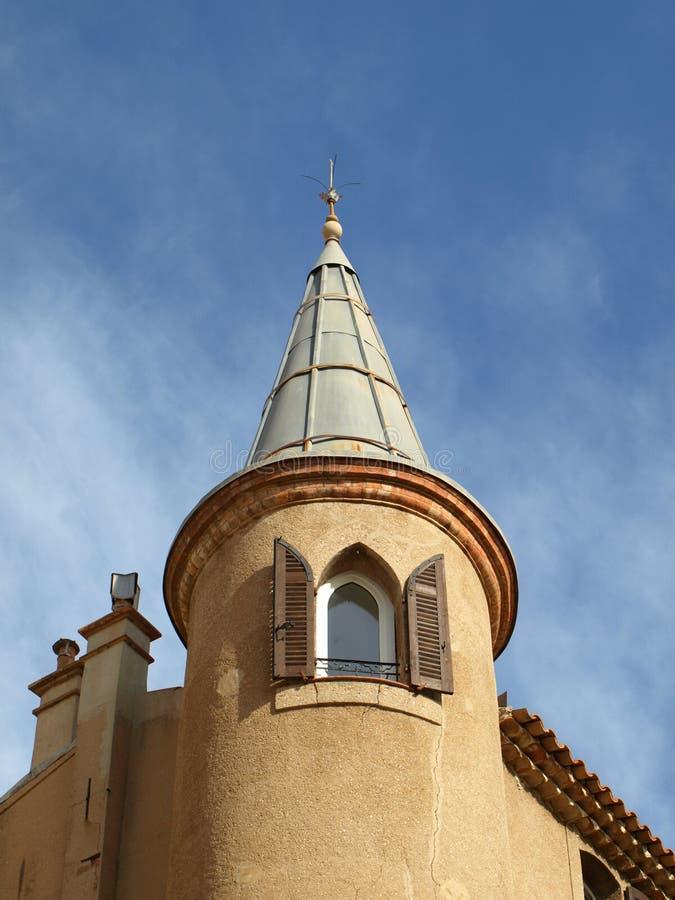 Casa della torretta della Provenza fotografia stock libera da diritti