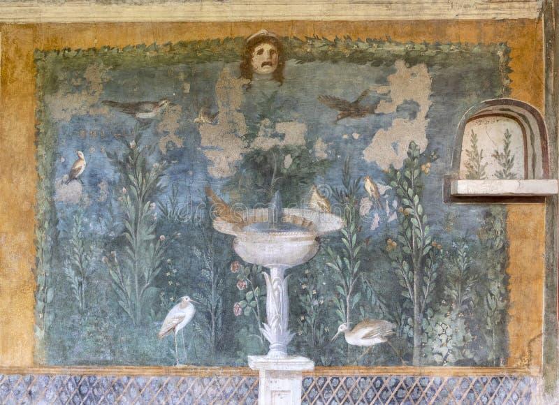 Casa della Venera fresco Pompeii stock image