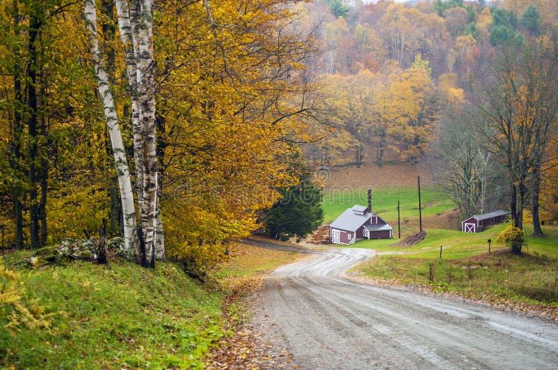Casa dello zucchero di acero, lettura, Vermont, U.S.A. fotografia stock libera da diritti