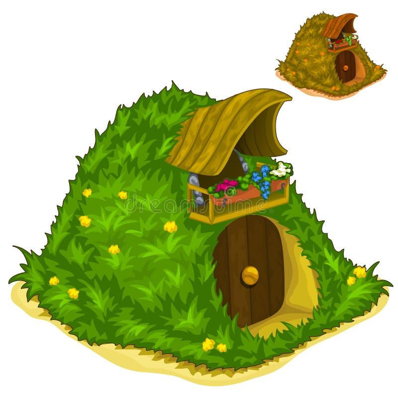 Casa dentro de la colina para los habitantes mágicos libre illustration