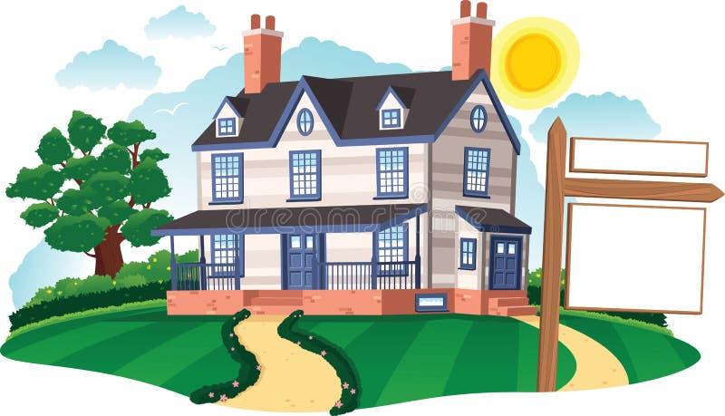 Casa destacada ilustração royalty free
