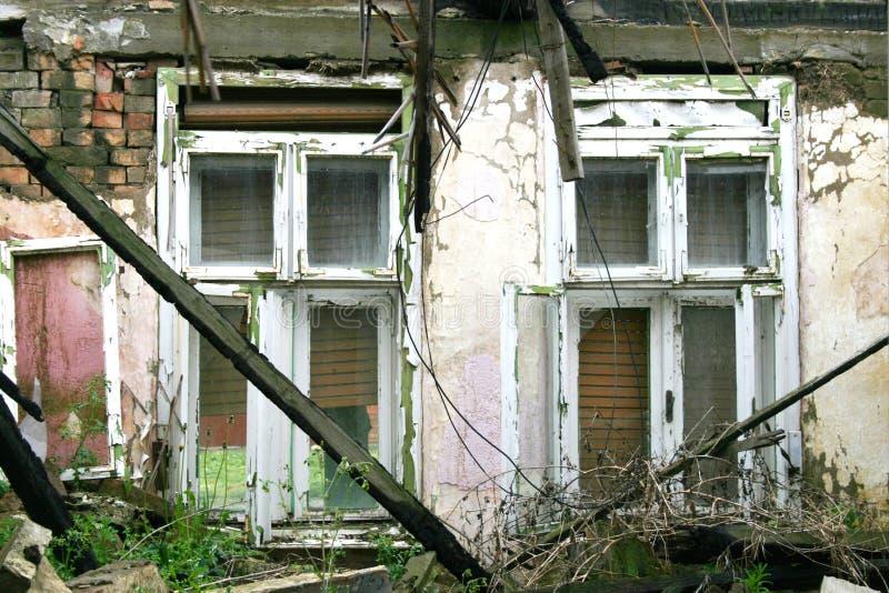 Casa destruída foto de stock royalty free