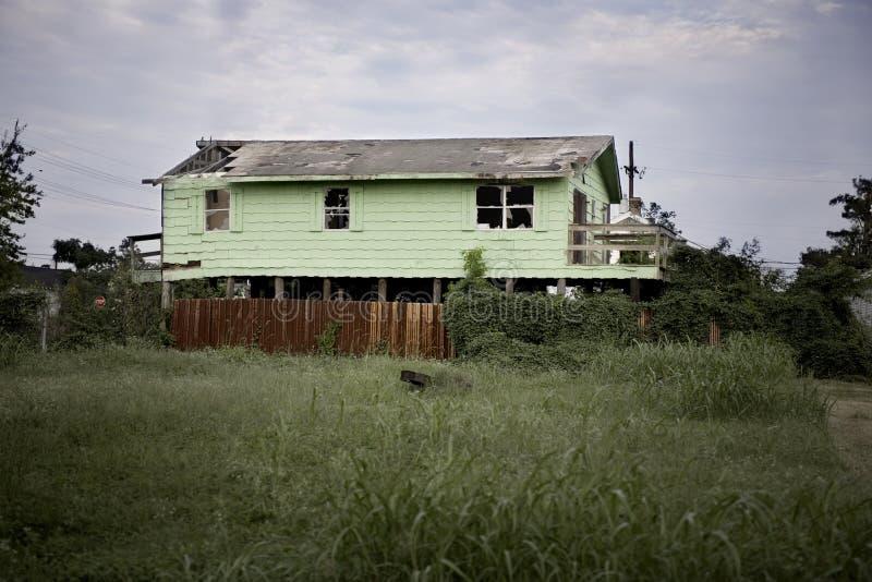 Casa Destructed foto de stock