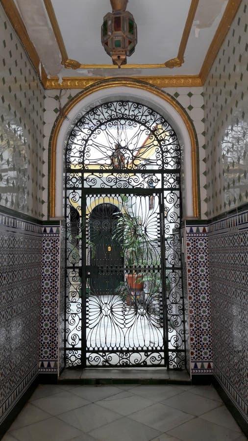 Casa di Andalucian a Cadice, Spagna immagine stock