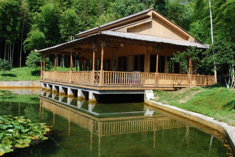 Casa di bambù fotografia stock