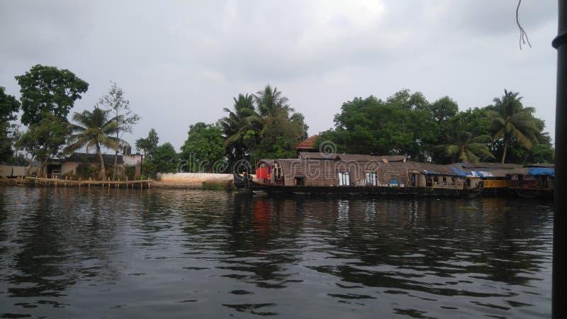 Casa di barca di Allepey immagini stock