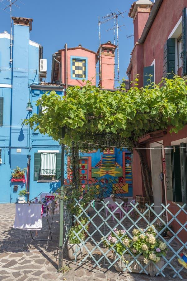 Casa Di Bepi, Burano, Italië royalty-vrije stock fotografie