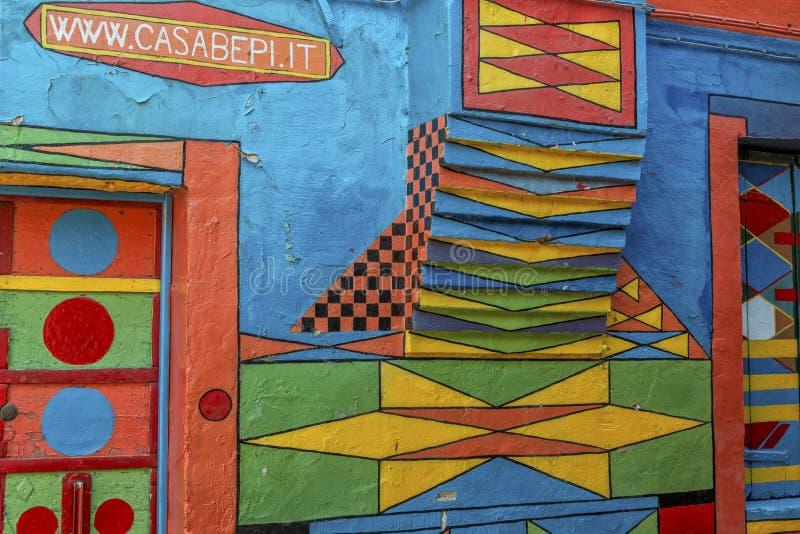 Casa Di Bepi, Burano, Italië stock afbeeldingen