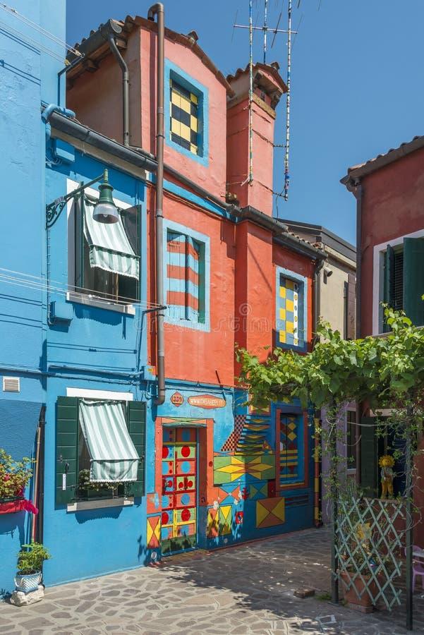 Casa Di Bepi, Burano, Italië stock foto's