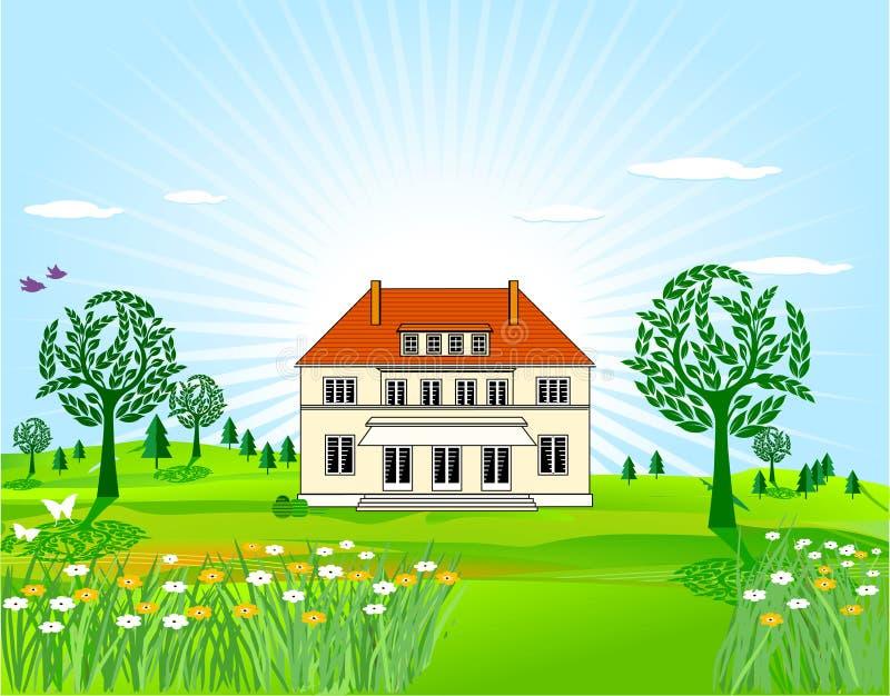 Casa di campagna illustrazione vettoriale