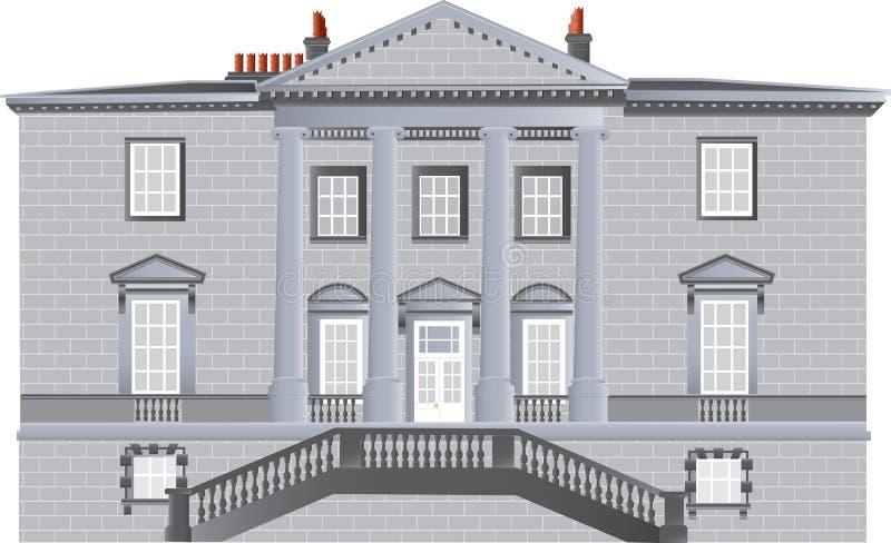 Casa di campagna inglese illustrazione vettoriale for Piani di casa di campagna inglese