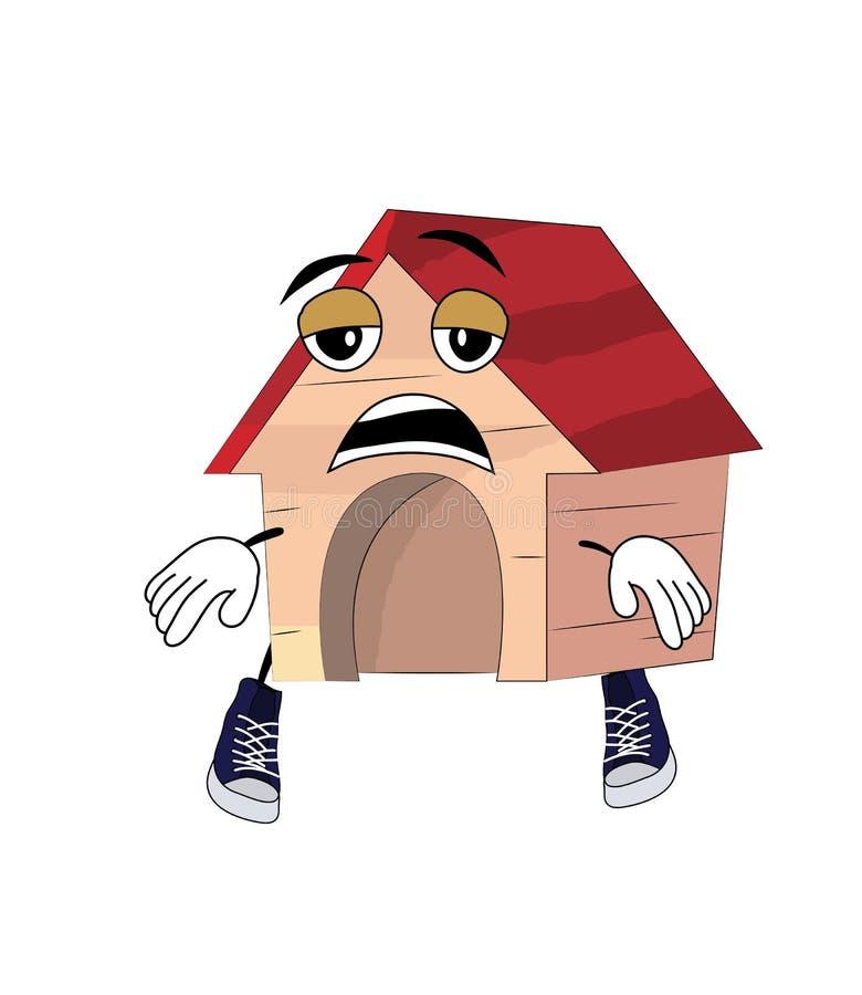 Casa di cane stanca illustrazione di stock