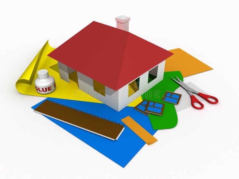 Casa di carta #2 illustrazione vettoriale