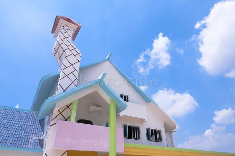 Casa di colore immagini stock