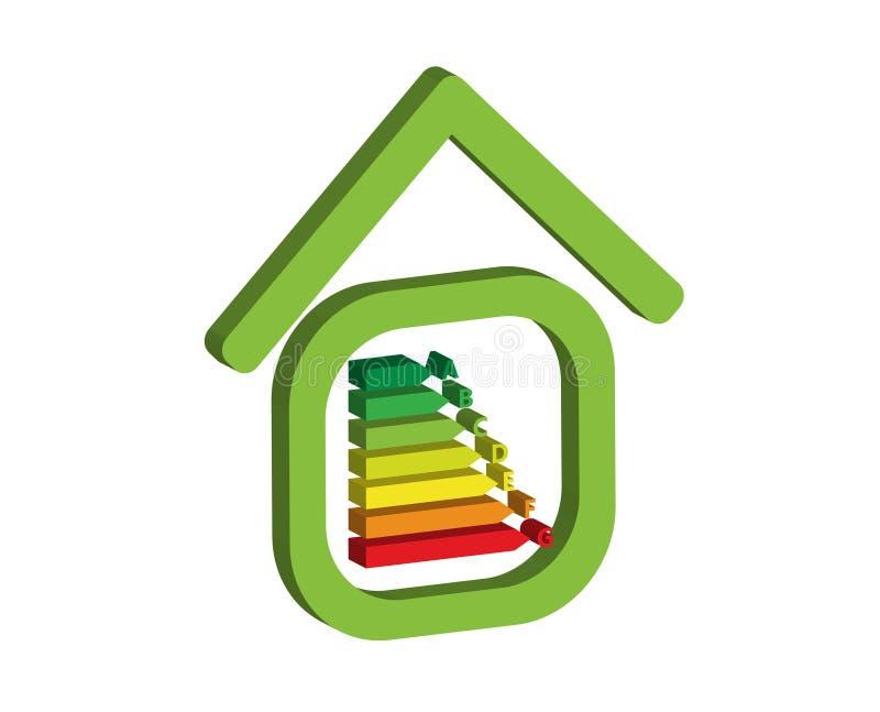 Casa di energia illustrazione di stock