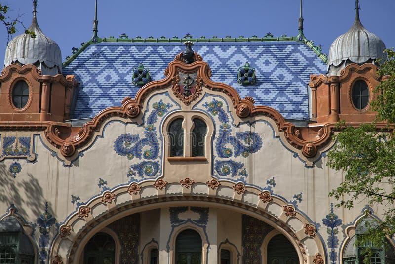 Casa di Ferenc Raichle dell'architetto in Subotica, Serbia immagine stock libera da diritti