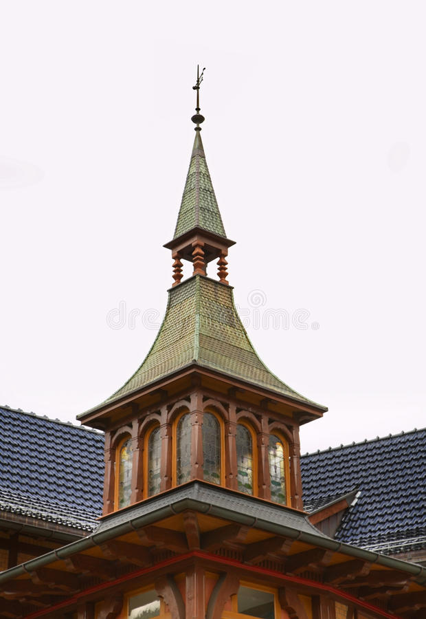Casa di legno a Engelberg switzerland fotografie stock libere da diritti
