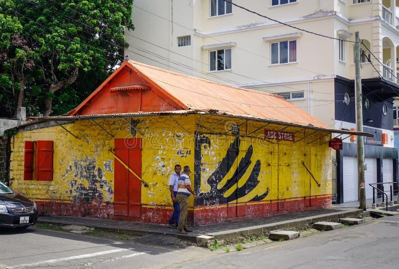 Casa di legno in grande Baie, Mauritius fotografia stock